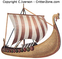 Viking longboat, ship, vessel, illustration, artwork